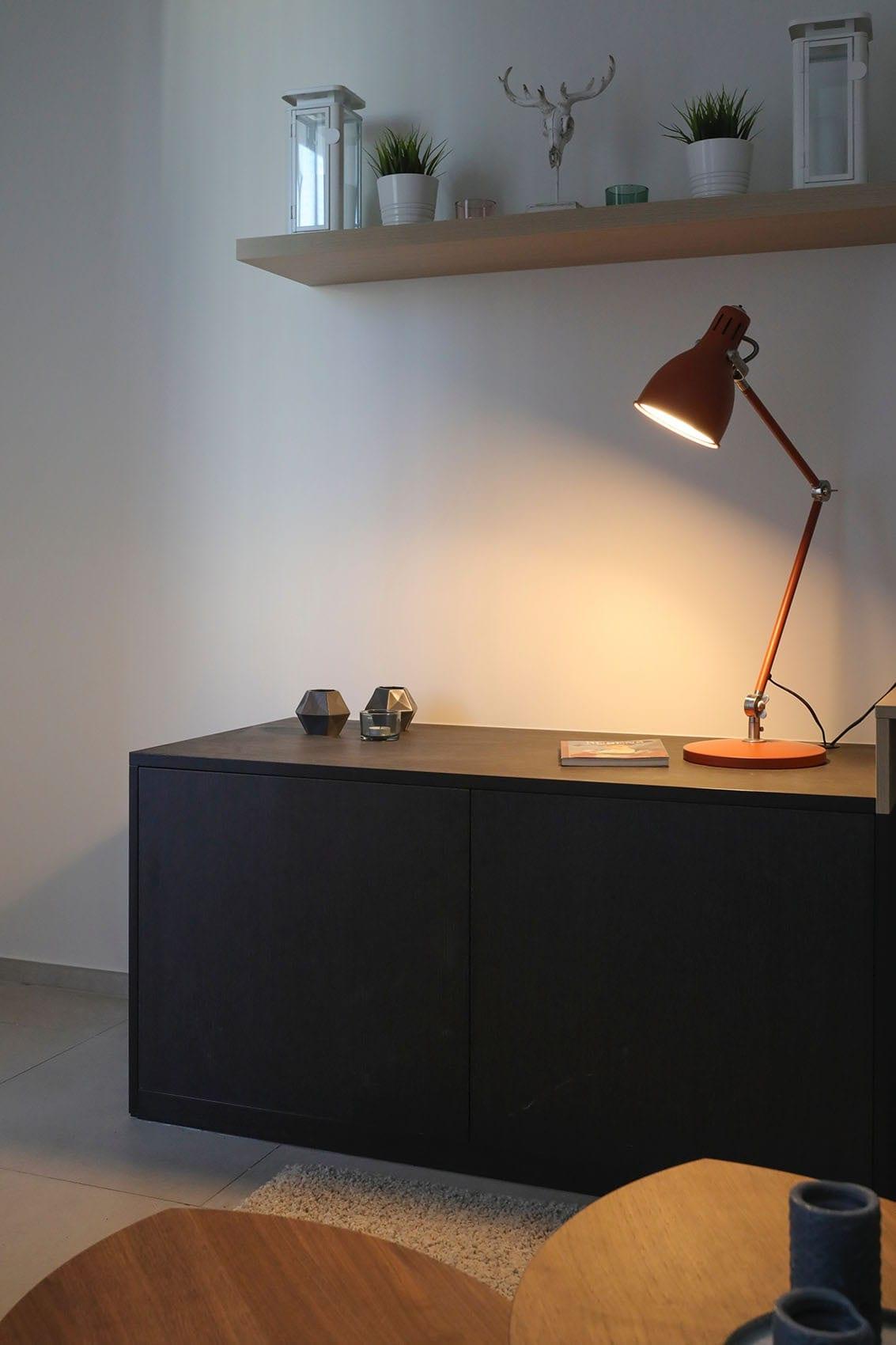 Commode noire fabriquée sur-mesure par Wood-in Menuiserie